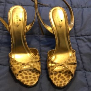 Kate spade wedge cheetah print size 9